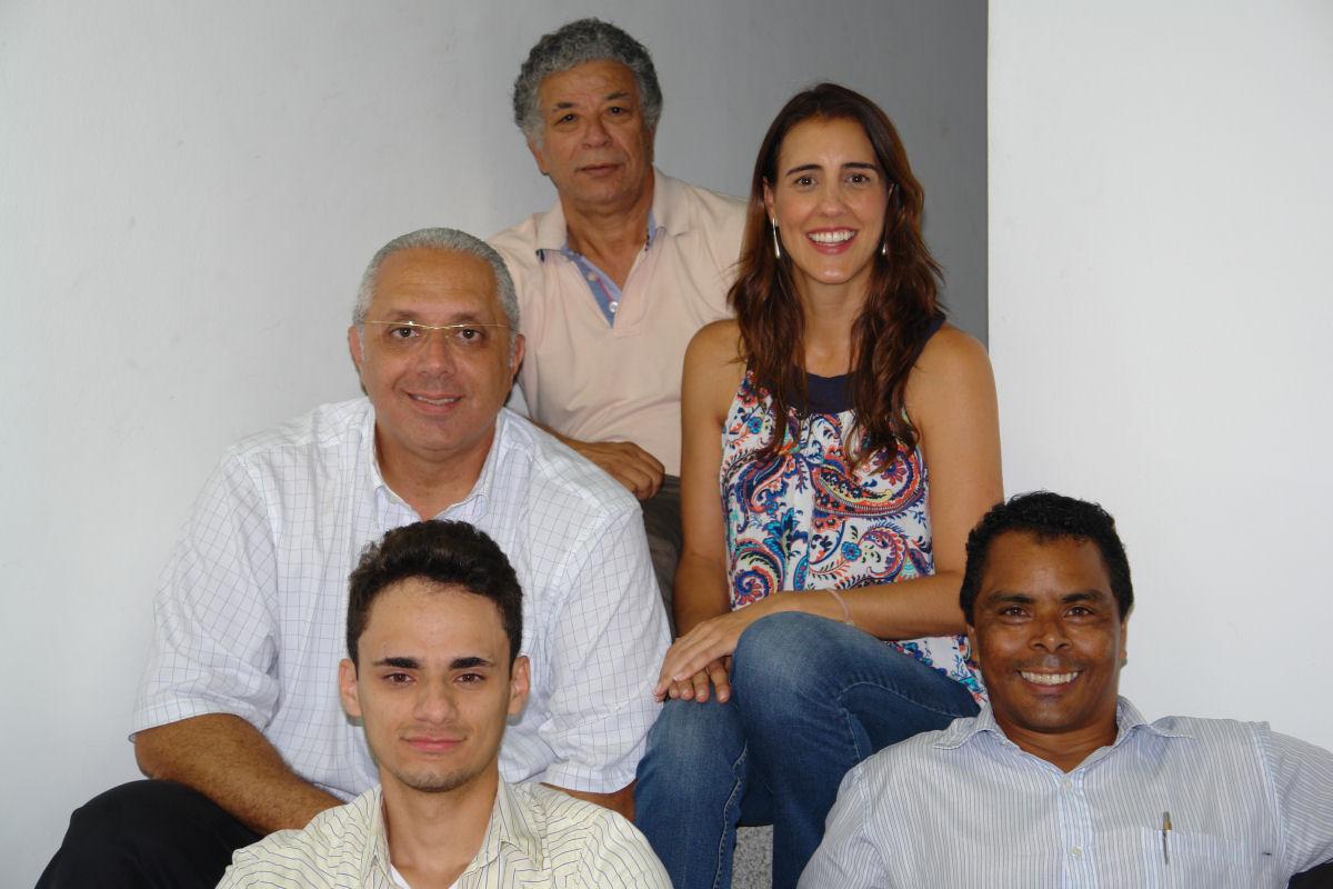 João Jadão, Juliana Freitas, Cid Carvalho, Ricardo Oliveira e Vinicius Andrade