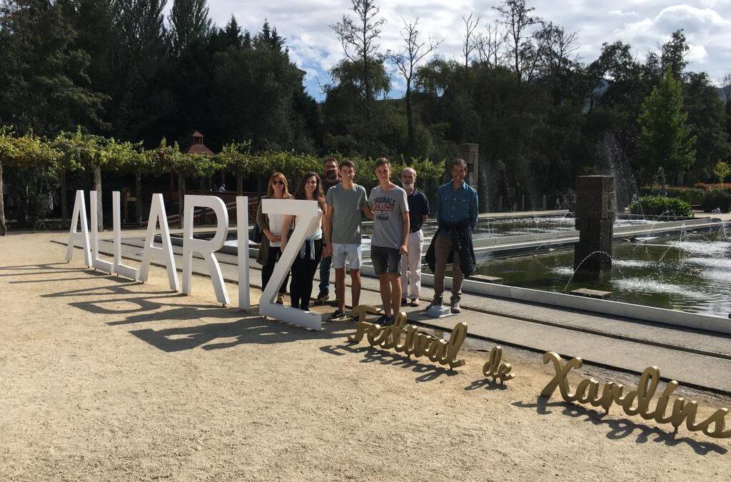 Alumnado catalán visita o Festival de Xardíns como premio a un reto científico enmarcado no iFEST