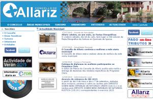 Antiga Web Allariz.com