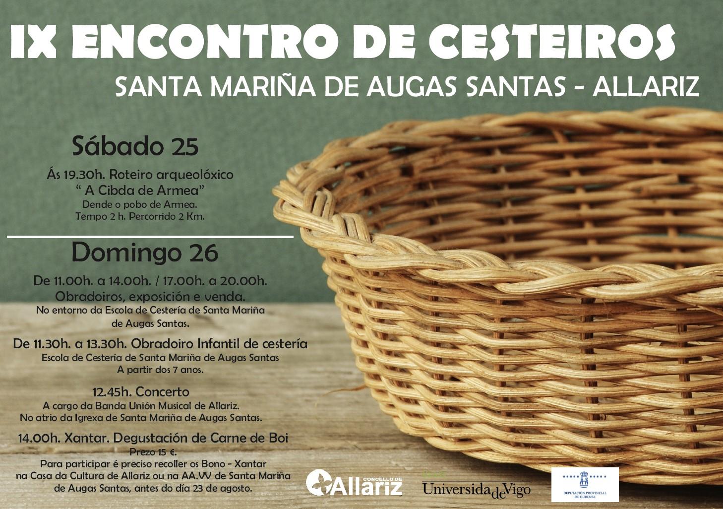 O Concello de Allariz desenvolveu o proxecto Os oficios en Allariz: cestería e curtición