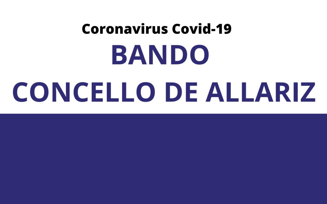 Bando municipal do Concello de Allariz sobre  actividades esenciais e impostos en vixencia.