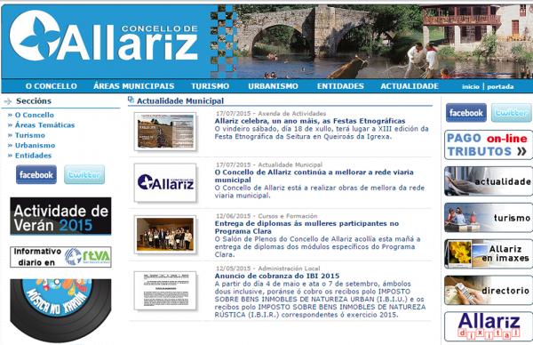 Web anterior allariz.com
