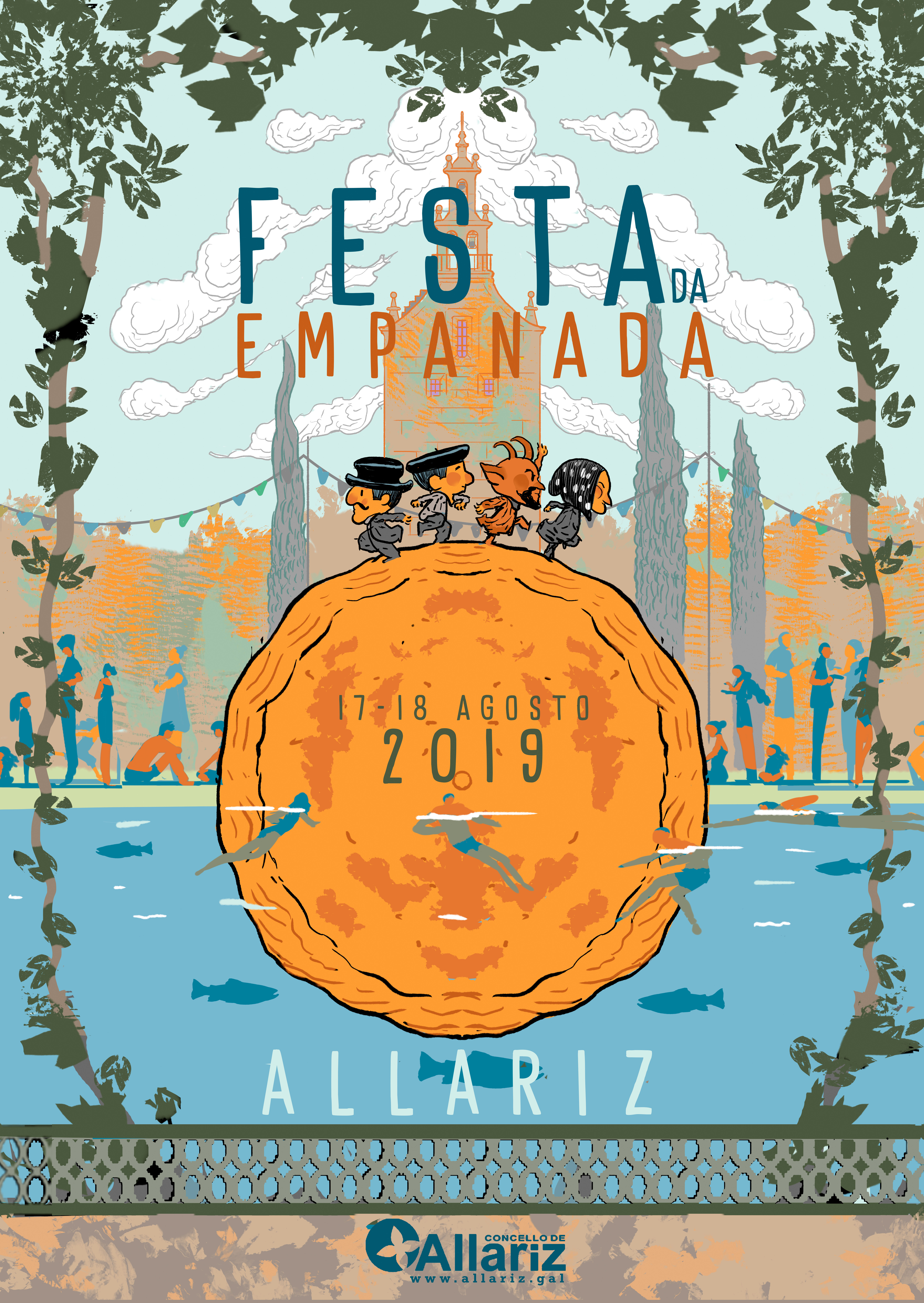 Música, deporte e gastronomía mesturados na Festa da Empanada