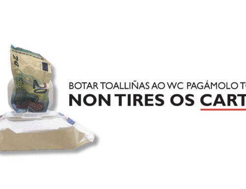 """O Concello de Allariz e Espina & Delfín poñen en marcha a campaña """"Botar toalliñas ao WC pagámolo todos"""