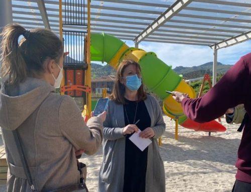 Os traballos de renovación das zonas lúdicas infantís en Allariz seguen o seu curso.