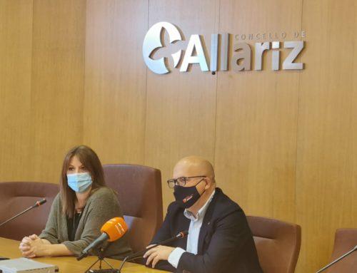 A Alcaldesa de Allariz e o Presidente da Deputación Provincial presentan os proxectos de colaboracións deste 2021.