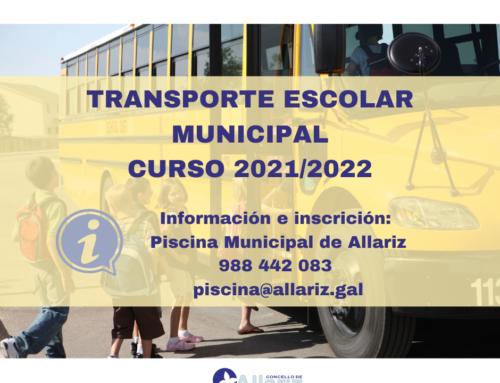 Aberto o prazo de inscrición para o transporte escolar municipal en Allariz